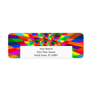 Modern Colorful abstract Pattern colors blue red Return Address Label