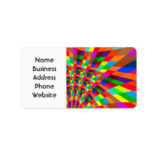 Modern Colorful abstract Pattern colors blue red Address Label