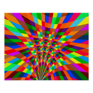 Modern Colorful abstract Pattern colors blue red Poster