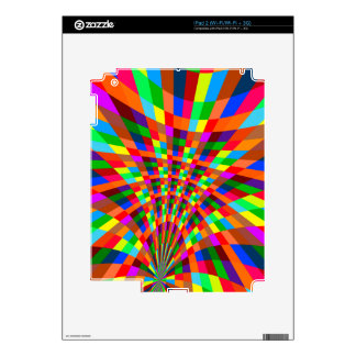 Modern Colorful abstract Pattern colors blue red Skins For The iPad 2