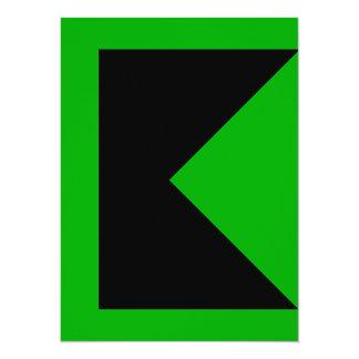 """Modern Colorful Bold Clean Design Color Invitation 5.5"""" X 7.5"""" Invitation Card"""