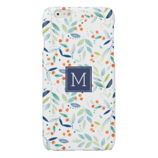 Modern Colorful Botanical Watercolors Illustration Glossy iPhone 6 Case