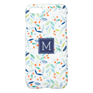 Modern Colorful Botanical Watercolors Illustration iPhone 8/7 Case