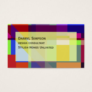 Modern Colorful Boxes Abstract Business Card
