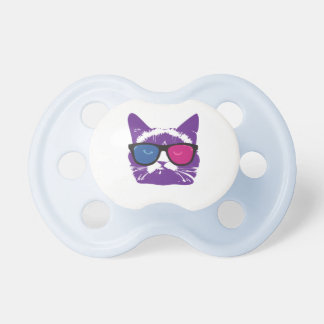 Modern Colorful Cat Baby Pacifiers