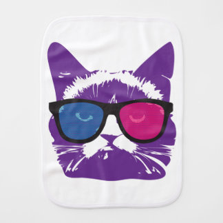 Modern Colorful Cat Burp Cloths