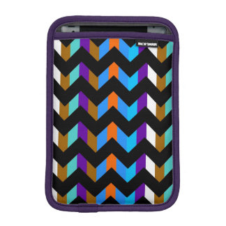 Modern Colorful Chevron Zigzag Pattern 2 Sleeve For iPad Mini