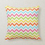 Modern Colorful Chevron Zigzag Pillow