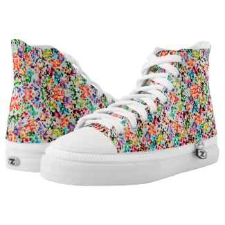 Modern Colorful Confetti Like Seamless Pattern Printed Shoes