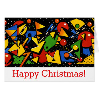 Modern Colorful Custom Happy Christmas Greeting Card
