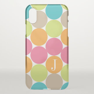 Modern Colorful Dots Personalized iPhone X Case