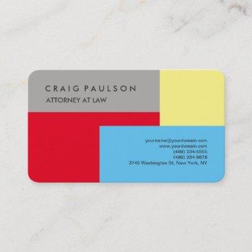 Modern Colorful Elegant Professional Minimalist Business Card