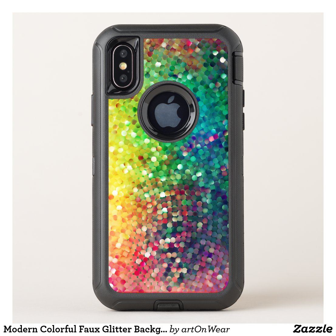 Modern Colorful Faux Glitter Background