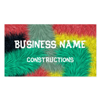 Modern colorful furry art Double-Sided standard business cards (Pack of 100)
