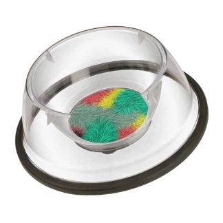 Modern colorful furry art pet bowl