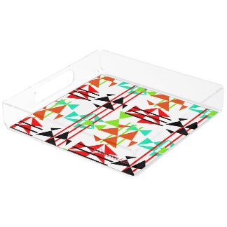 Modern Colorful Geometric Design Serving Tray