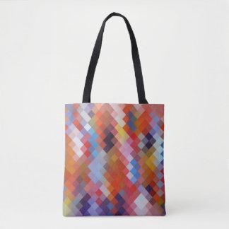 Modern Colorful Geometric Diamond Pattern #11 Tote Bag