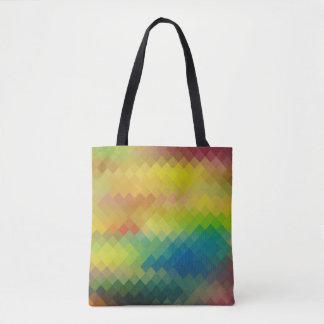 Modern Colorful Geometric Diamond Pattern #19 Tote Bag
