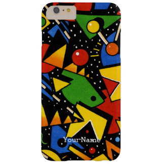 Modern Colorful Geometric Pattern Barely There iPhone 6 Plus Case