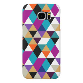 Modern Colorful Geometric Triangles Pattern 3a Samsung Galaxy S6 Cases