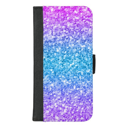 Modern Colorful Glitter Background iPhone Wallet Case
