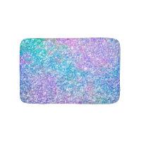 Modern Colorful Glitter Texture Bathroom Mat