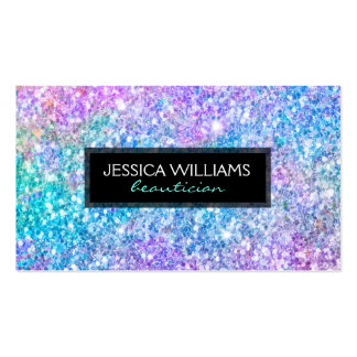 Modern Colorful Glitter Texture Business Card