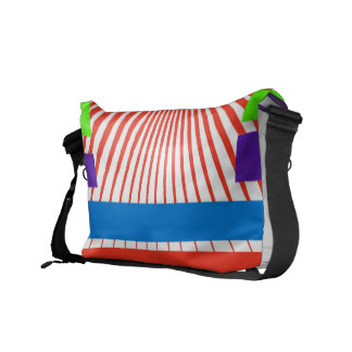 Modern Colorful Graphic Courier Bag