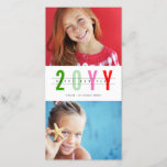 """Modern Colorful Happy New Year Photo Collage Card<br><div class=""""desc"""">Designed by fat*fa*tin. Easy to customize with your own text,  photo or image. For custom requests,  please contact fat*fa*tin directly. Custom charges apply.  www.zazzle.com/fat_fa_tin www.zazzle.com/color_therapy www.zazzle.com/fatfatin_blue_knot www.zazzle.com/fatfatin_red_knot www.zazzle.com/fatfatin_mini_me www.zazzle.com/fatfatin_box www.zazzle.com/fatfatin_design www.zazzle.com/fatfatin_ink</div>"""