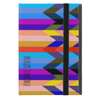 Modern Colorful Herringbone Chevron Stripes Cover For iPad Mini
