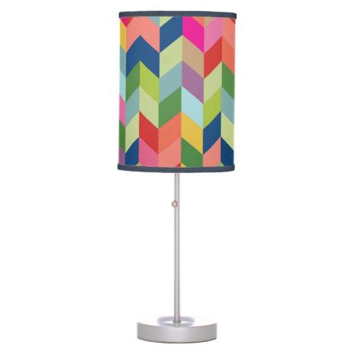 Modern Colorful Herringbone Table Lamp