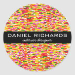 Modern Colorful Interior Designer Branding Classic Round Sticker