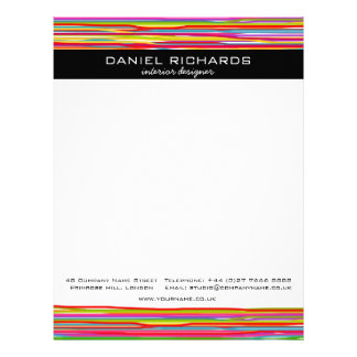 Modern Colorful Interior Designer Branding Letterhead
