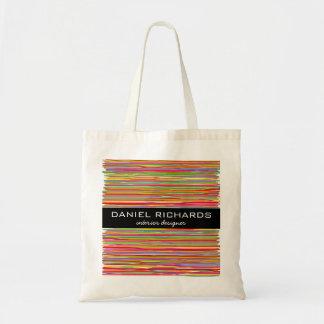 Modern Colorful Interior Designer Branding Tote Bag