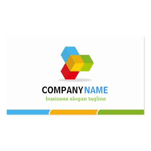 Modern Colorful Logo - Double Sided Design Business Cards (back side)