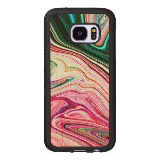 Modern Colorful Marbleized Pattern