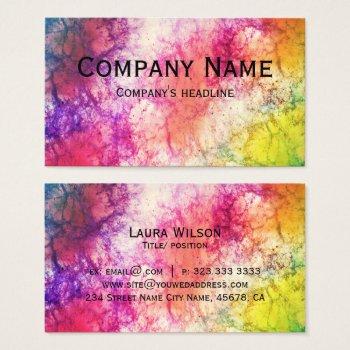 Modern Colorful Nebula Template Business Card by RainbowChild_Art at Zazzle