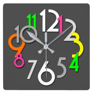 Modern Colorful Neon Wall Clock