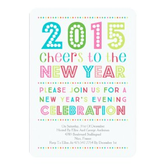 Modern Colorful New Years Eve Party Invitation