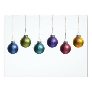 "Modern Colorful Ornaments Christmas Greeting Card 6.5"" X 8.75"" Invitation Card"