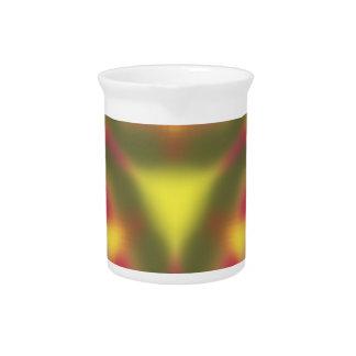 Modern colorful pattern drink pitcher