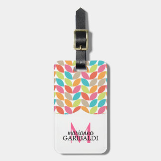 Modern Colorful Pattern Personalized Bag Tag