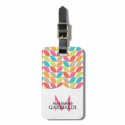 Modern Colorful Pattern Personalized Tags For Bags