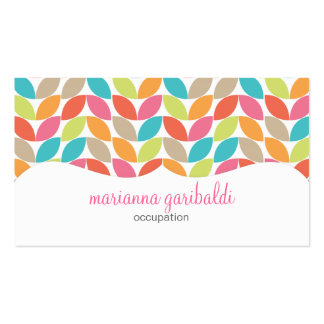 Modern Colorful Pattern Profissional Business Cards
