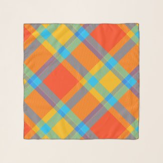 Modern Colorful Plaid Pattern Scarf
