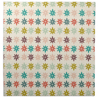 Modern Colorful Poinsettia Christmas Pattern Napkin