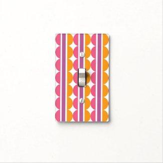 Modern Colorful Polka Dots Stripes