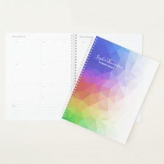 Modern Colorful Rainbow Polygonal - Planner