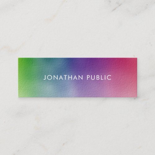 Modern Colorful Simple Template Professional Mini Business Card