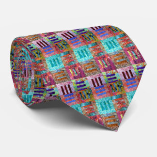 Modern Colorful Squares Neck Tie